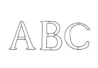 ワイヤーオブジェ A/B/C