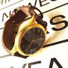 オイルレザー ブラス 時計 WD【在庫1】