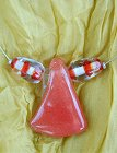 RED AFRICAN GLASS ネックレス
